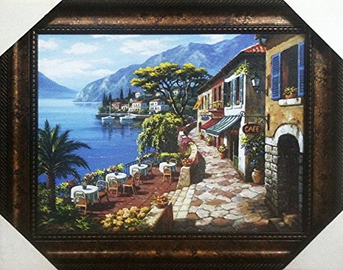 - Overlook Cafe 2 by Sung Kim Art Print - Gorgeous Large Wooden Frame - (43.5