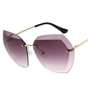 Meliya Unisex Fashion sin montura gafas de sol Oversized anti-UV marco de conducción gafas