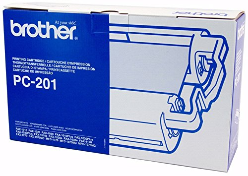 (3 X Brother PC-201 Ink Cartridge - Black - Retail Packaging)