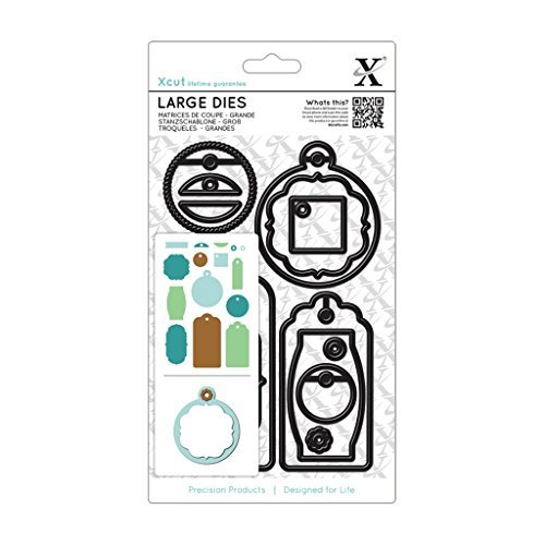 Docrafts Xcut Large Dies (15pcs) - Gift Tag Set Everyday - Cut & Emboss + Free Shim by Xcut