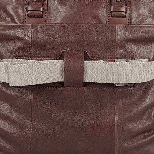 Cartella in cuoio con comparto per pc e tablet Piquadro, linea Vespucci IT4, made in Italy