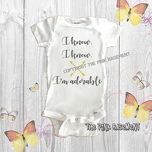 fc76a2cf5d096 Amazon.com: HANDMADE Babies Gray Gold Adorable arrow Onesies Name  Personalized Custom Boys Girls Baby Clothes Clothing Unisex Newborn Infant  Onesie Gift ...