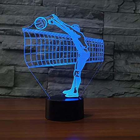 Amazon.com: HRUIHKV 3D Volleyball Net Night Light LED ...