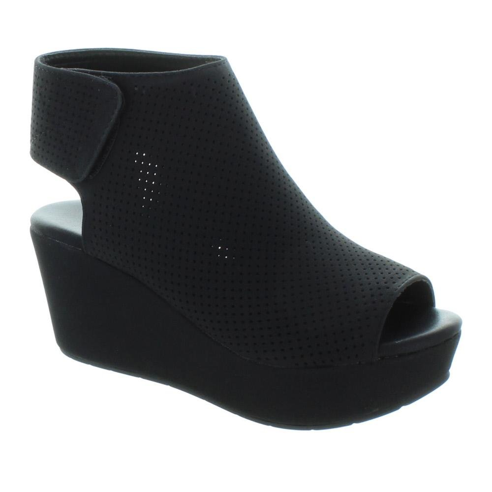 Pierre Dumas Women's Backless Slip-On Chunky Stacked Heel Fashion Mule Bootie Natural-2(22657) B079P4SCJG 9 B(M) US|Black