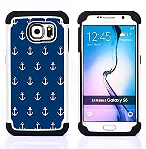 For Samsung Galaxy S6 G9200 - navy anchor sailor seaman boat sea Dual Layer caso de Shell HUELGA Impacto pata de cabra con im??genes gr??ficas Steam - Funny Shop -