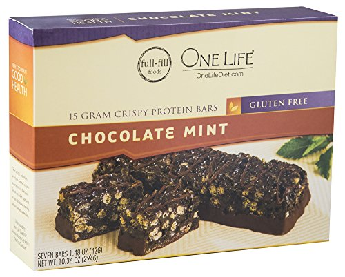 Crispy Chocolate Mint Protein Bars