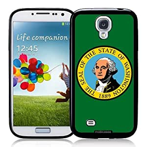Cool Painting Flag of Washington - Protective Designer BLACK Case - Fits Samsung Galaxy S4 i9500