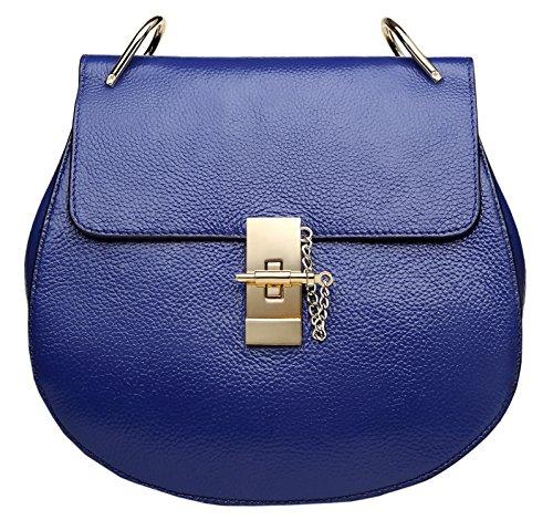 Genuine Shoulder Blue Royal Black Cross Bags Leather SAIERLONG Bags Womens Designer Ladies Body Swq7IzpFfx