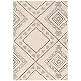 Safavieh CSB302A-5 Casablanca Collection Abstract Area Rug, 5′ x 8′, Ivory/Grey