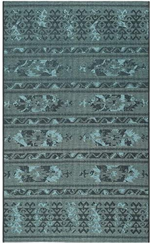 Safavieh Palazzo Collection PAL125-56C4 Black and Turquoise Area Rug 8 x 11