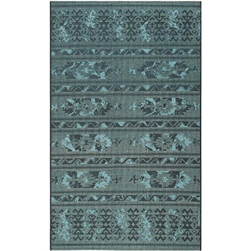 Safavieh Palazzo Collection PAL125-56C4 Black and Turquoise Area Rug 4 x 6