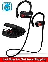 Wireless Headphones Bluetooth Running Earbuds. SoundWhiz Sweat Proof Sports Earphones - w Mic & Siri. Best In Ear Sport Headphones 8 Hours Play
