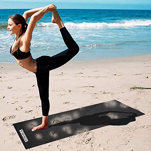 Amazon.com: Alfombrilla de yoga gruesa multiusos, ligera ...