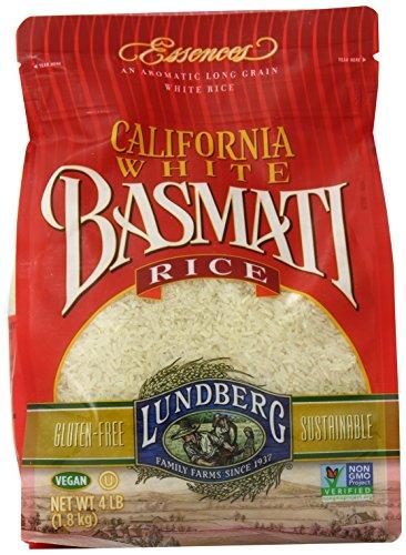 Lundberg Family Farms California White Basmati Rice, 4 Pound (Pack of 6) by Lundberg