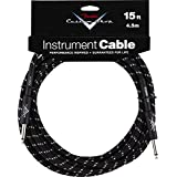 Fender Accessories 099-0820-051 Fender Custom Shop 15-Feet Instrument Cable - Black Tweed