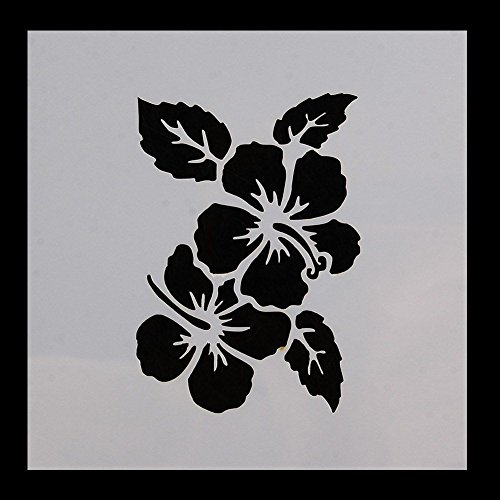 Flower Petal Stencil (Hawaiian (Hawaii) Aloha Lei Flower Pattern Print Stencil 5 x 5 - Quality Stencils from Bakell)