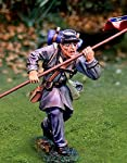 Confederate flagbearer Civil War Battle of gettysburg . Metal collectable soldier. 1/30th scale Butternut Rebel fighting under Robert E. Lees command on Little Round Top. Flagbearer Pose by Collectors Showcase
