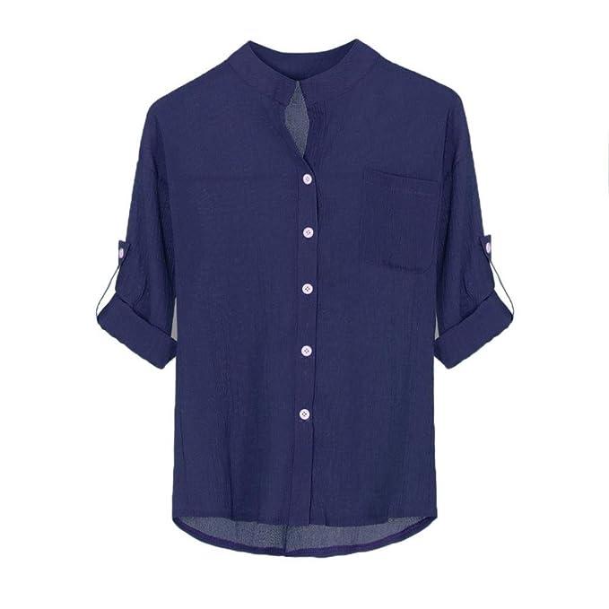 Ropa de Mujer en Oferta Blusas para Mujer Elegantes Blusa de Cuello Alto de Las Mujeres