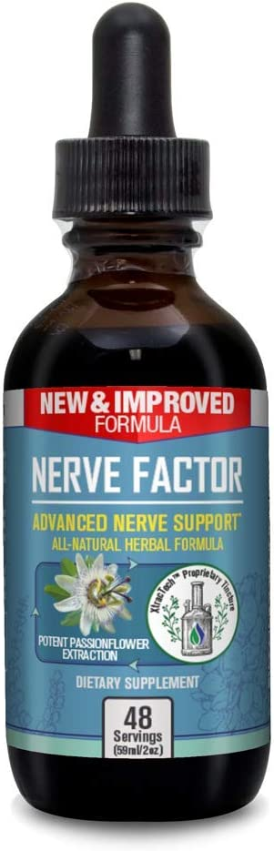 Nerve Factor - Advanced Liquid Nerve Support Supplement - Help Support Blood Flow and Calm Relaxation - Turmeric, B-Vitamins, Spirulina and Passionflower