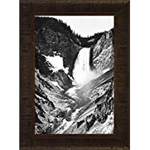 Yellowstone Falls By Ansel Adams 23.5x17.5 Glacier Montana Grand Teton National Park Yellowstone Western Wyoming Framed Art Print Wall Décor Picture