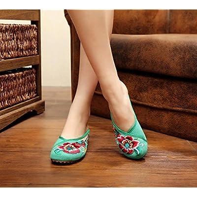 &hua Fine Chaussures brodées, semelle tendon, style ethnique, flip flop féminin, mode, confortable, sandales