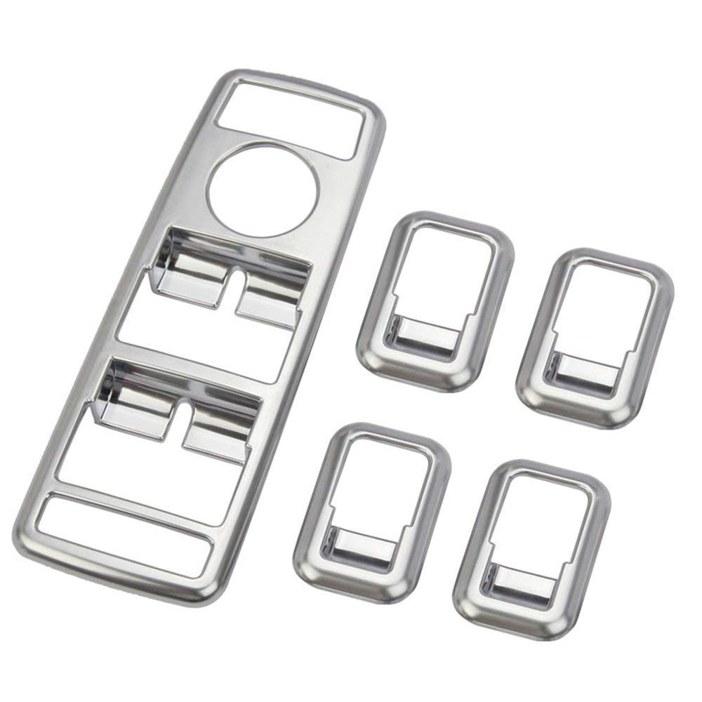 Window Lift Switch Button Cover Trim ABS Chrome plating Silver, 2 pcs/set,Interior Auto Vehicle Accessory, for A/B/C/E/GLE/GLA/CLA/GLK/ML W212 W204 carwest