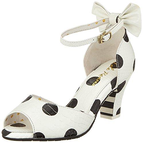 Lola Ramona Women's Ava Open Toe Heels Off-white (Cream 77)