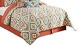 Peking Handicraft Yuma King Quilt, 108x92, Terra Cotta