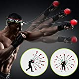 TEKXYZ Boxing Reflex Ball, 2 Difficulty Levels