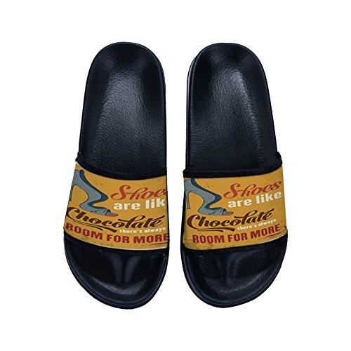 Irma00Eve Donna K Nero EU 39 Pantofole rCq5xr
