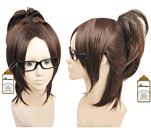 2013 Wig Attack on Titan Shingeki No Kyojin Hanji Zoe Dark Brown Cosplay Wig (Brown Ponytail Wig)