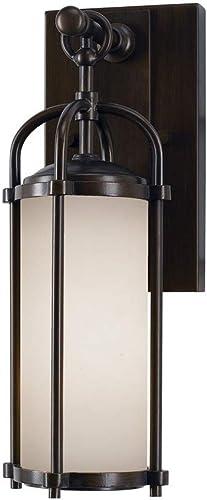 Feiss OL7600ES Dakota Outdoor Patio Lighting Wall Lantern, Bronze, 1-Light 5 W x 13 H 100watts