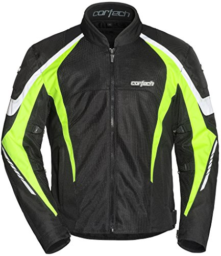 Cortech Men's GX-Sport Air 5.0 Jacket (Black/Hi-Viz, -