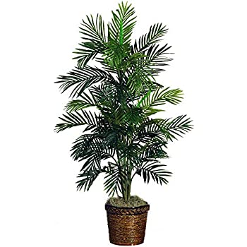 Nearly Natural 5263-0308 56in. Areca Palm Silk Tree with Basket
