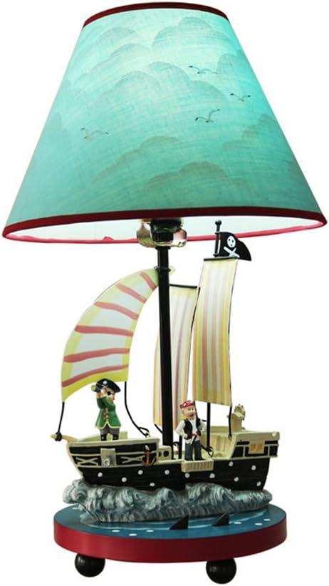 YMXLJF Lámpara de Mesa Creativa Moderna del Barco Pirata, lámpara ...