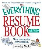 The Everything Resume Book, Burton Jay Nadler, 1580628079