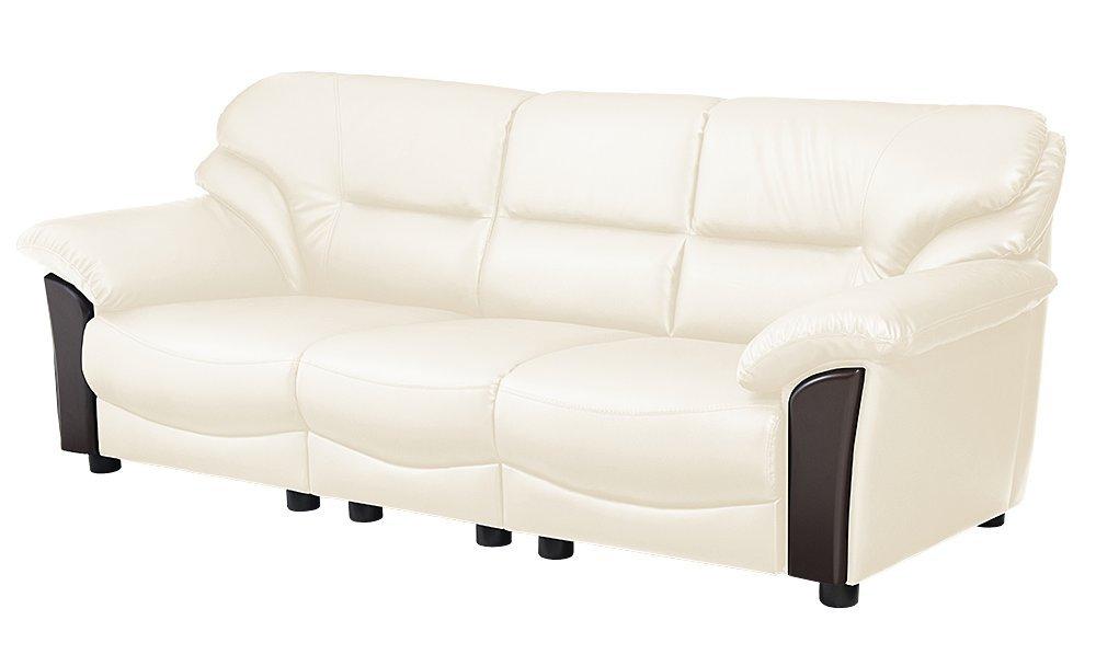 シンプルモダンソファ PVC レザー ソファ ソファー 応接ソファ 応接室 オフィス家具 シンプル モダン おしゃれ ブラック ホワイト (3人掛け, ホワイト) B07B4YXF46 3人掛け|ホワイト ホワイト 3人掛け