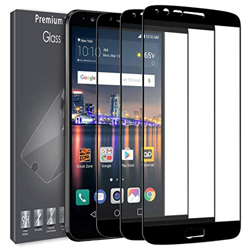 [3 Pack] LK Screen Protector for LG Stylo 3, [Full Cover] [Japan Tempered Glass] 9H Hardness with Lifetime Replacement Warranty