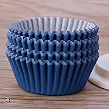 TR.OD 100Pcs Baking Cup/Cupcake Paper/Cupcake Liners Solid Color Case Wedding Wrapper Muffin Cupcake Liners, Dark Blue