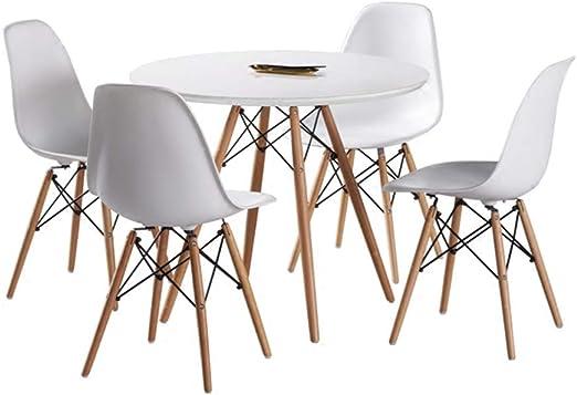 Joolihome, Tavolo e sedie Set 4, in Legno, Stile Eiffel per