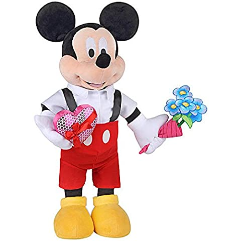 Disney Valentines Day Greeter- Mickey Mouse in Suspenders (Plush Porch Greeter)