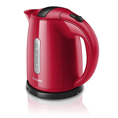 Philips Daily Collection HD4646/501.5L 2400W Red Electric Kettle–Electric Kettles (2400W, 220–240V, 50/60Hz, 166mm, 230mm, 249mm)