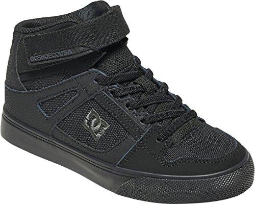 DC Boys' Pure High-Top EV Skate Shoe, Black/Black/Black, 6 M US Big (Dc Pure Boys Shoes)
