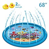 Apopbeaty 2019 New Sprinkle and Splash Play Mat 68'+ Mini Yellow Duck,Water Fun Toys for Children Toddlers Boys Girls Kids Outdoor Party Water Inflatable Play Pad Summer Fun Backyard