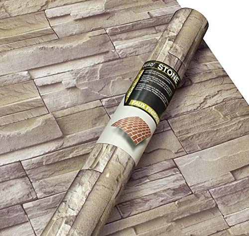 Faux Furniture Stone (VViViD Stone Brick Faux Finish Matte Self-Adhesive Architectural Vinyl Roll (48