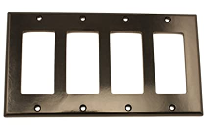 Leviton 004 80412 00e Quadruple Gang Wall Plate Switch And Outlet