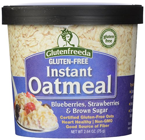 Glutenfreeda Gluten Free Instant Oatmeal Cups, Blueberries, Strawberries and Brown Sugar, 2.64-ounces, 12 Pack