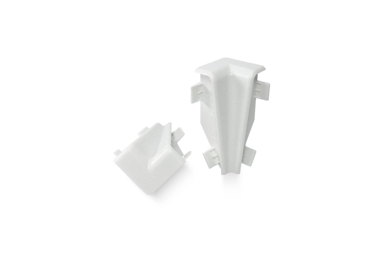 Inhalt 2 St/ück ✓einfache Fussleisten Montage ✓saubere Verlegung Mega Endkappen wei/ß aus Kunststoff passend f/ür Mega Laminatleiste wei/ß KGM Endkappe f/ür Mega Sockelleiste