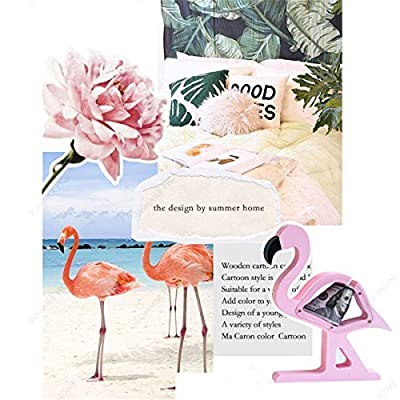ECYC Creative Design Piggy Bank Transparent Wooden Coin Box Kids Gift Room Decoration, Flamingo: Office Products