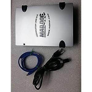 Mad Dog Multimedia DOMINATOR 3-in-1 Plus 52X CD-RW External Drive MD-52XCDEX